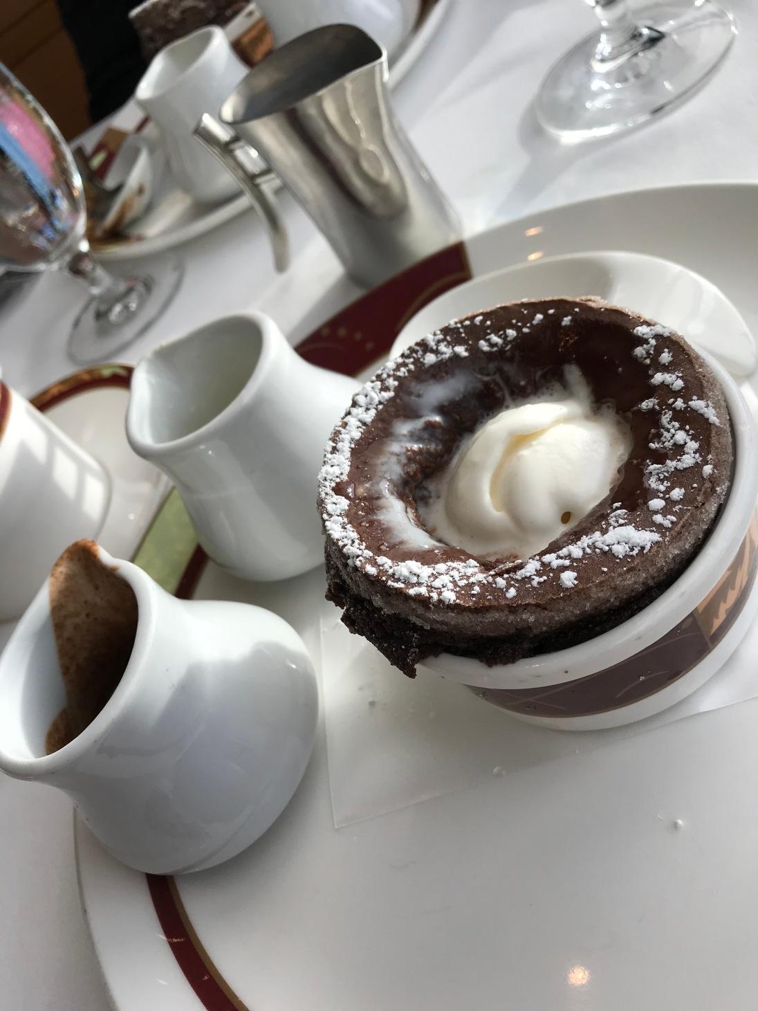 Palo's famous Chocolate Soufflé