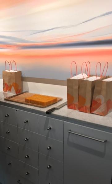 Juicy Orange soap slab ready for cutting