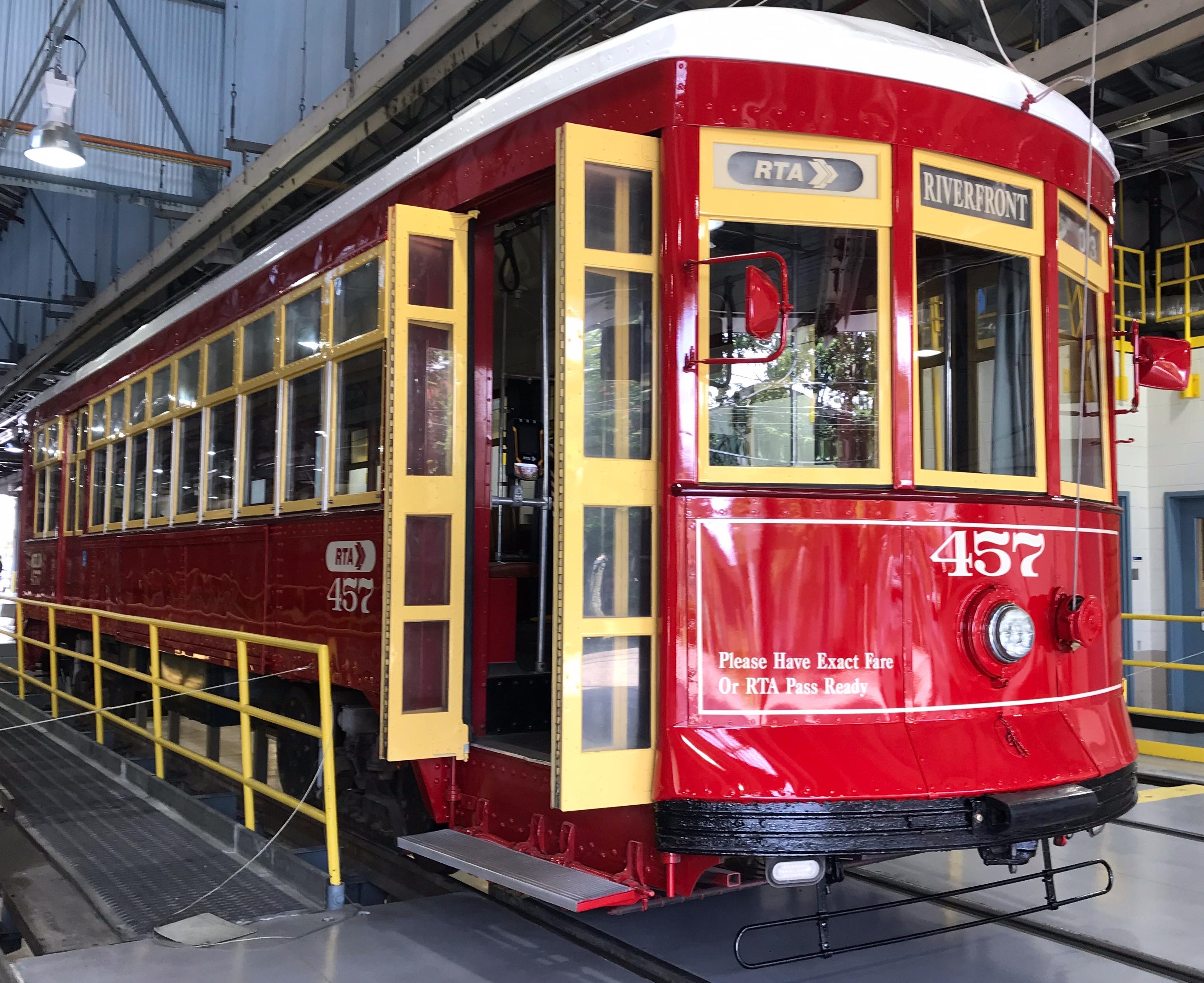 Freshly Painted Streetcar