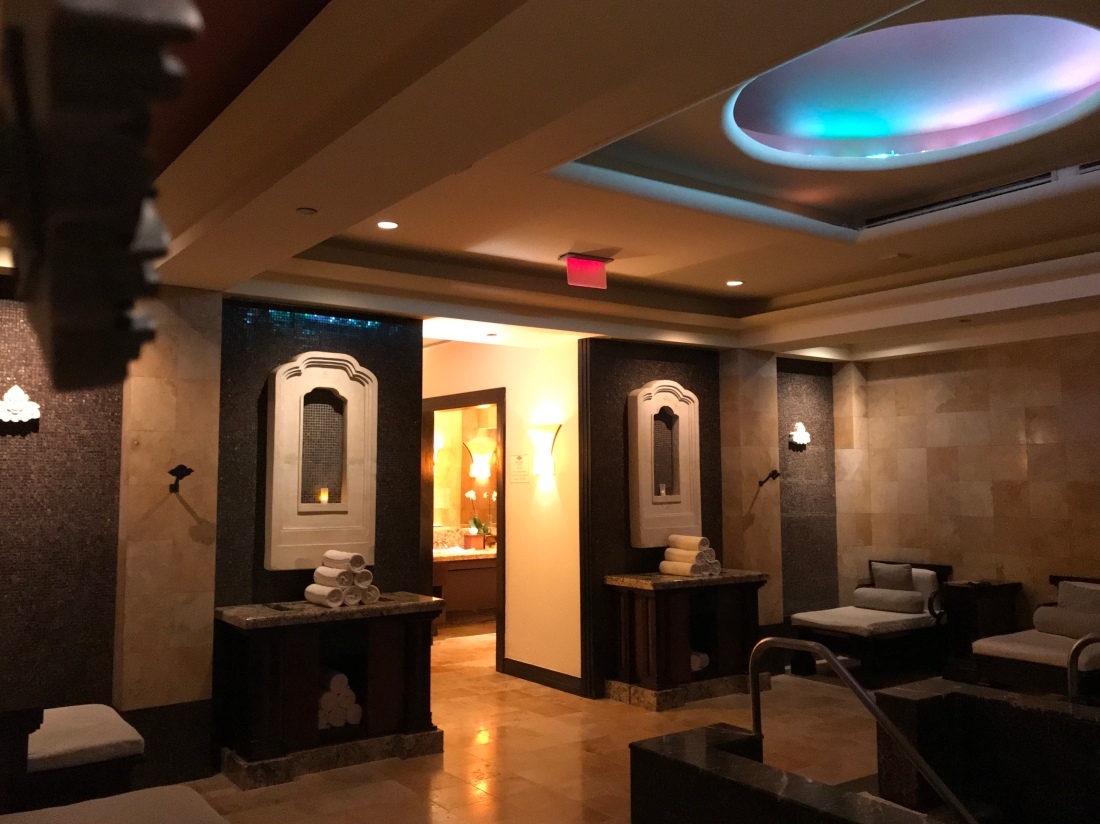 Relaxation area of the Mandara Spa